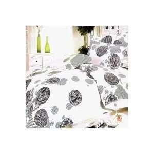 Gray Marbles] 100% Cotton 5PC Comforter Set (King Size)   [White Gray