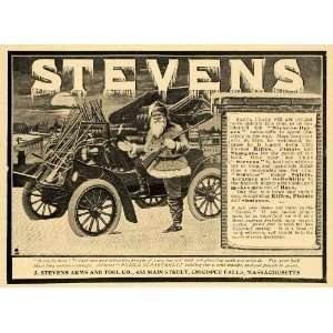 Rifles Pistols Shot Guns Santa Car   Original Print Ad