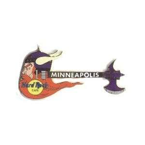 Hard Rock Cafe Pin 13849 Minneapolis Viking Guitar