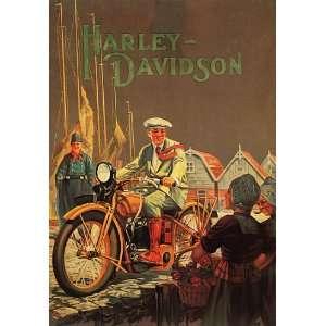 MOTORCYCLE HARLEY DAVIDSON AMERICAN BIKE SMALL VINTAGE