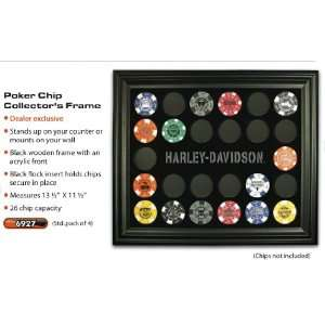 Harley Davidson Poker Chip Collectors Frame 6927  Sports