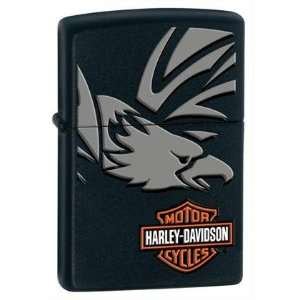 Zippo Harley Davidson Eagle Lighter (Black, 5 1/2 x 3 1/2