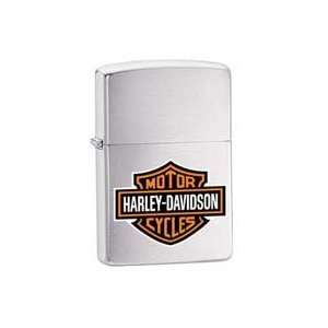 Zippo Harley Davidson Logo Brushed Chrome Lighter Kitchen