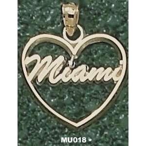 Miami Univ Script Miami Heart Charm/Pendant