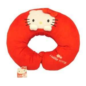 Hello Kitty Sanrio Head Neck Pillow Cushion   Red