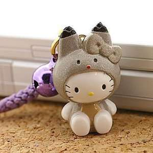 Hello Kitty Hokkaido Area Limited Yezo Squirrel Kitty Netsuke Cell