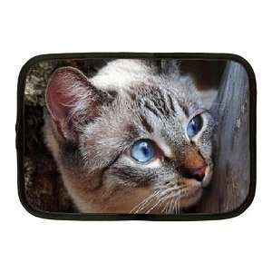 Cute Blue Eye Kitty Netbook Case Medium