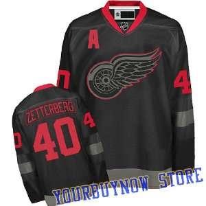 Gear   Henrik Zetterberg #40 Detroit Red Wings Black Ice Jersey Hockey