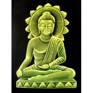 Indian Hindu God Lord Buddha Religious Tapestry Handmade