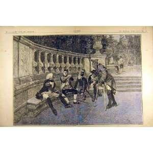 1884 Painting Les Invalides Aranda Military French Home