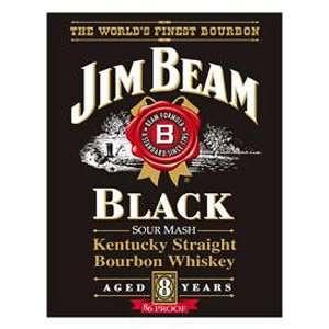 Jim Beam Whiskey Black Label Metal Tin Sign Nostalgic