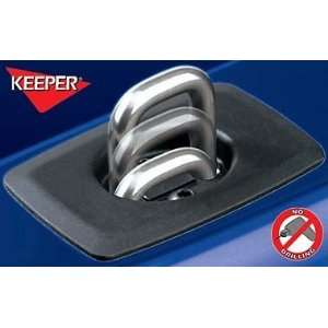 Keeper Bull Ring Stake Pocket Tie Downs w/ Black Nylon Base Plate Ford