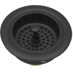 Black Kitchen Prep Bar Sink Basket Strainer & Plug