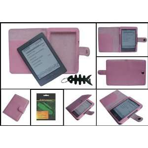 Leather Case Cover and Anti Glare Screen Protector for  Kindle