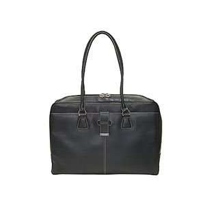 LADIES LEATHER NOTEBOOK BLACK TOTE BAG FITS UP TO 15.4IN Electronics
