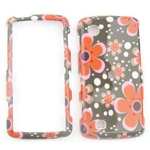 LG Chocolate Touch vx8575 Red Flowers on Black Hard Case