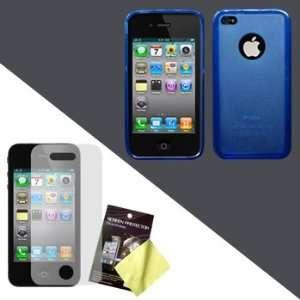 Hybrid Case / Skin / Cover (Dark Blue + Light Blue) & LCD