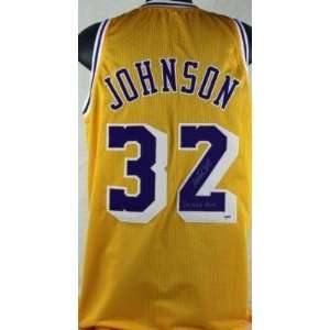 Magic Johnson Autographed Uniform   with 3x Mvp