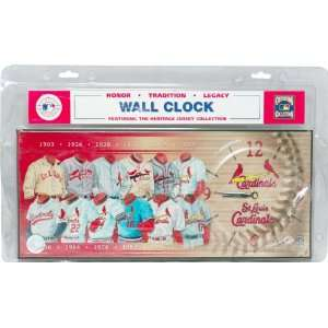 MLB St. Louis Cardinals Jersey Clock