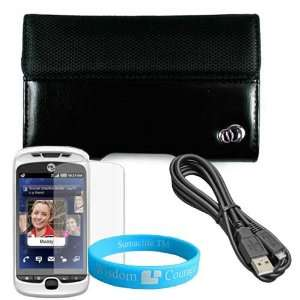 Black HTC MyTouch Slide 3G Two Tone Carrying Case + Data Cable