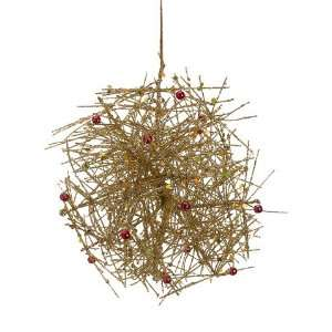 Wire Mesh Ball Ornament Gold (Pack of 6)