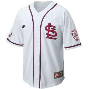 Nike St Louis Cardinals White Cooperstown Baseball Jersey