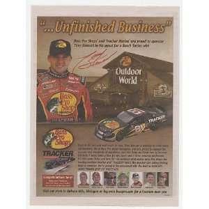 2004 Tony Stewart NASCAR #81 Bass Pro Shops Print Ad