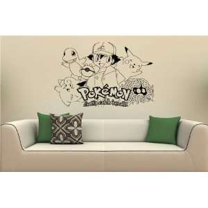 Pokemon Wall MURAL Vinyl Sticker Kids ROOM S. 1767