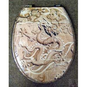 Dragon Elongated Bathroom Toilet Seat Novelty Home Improvement