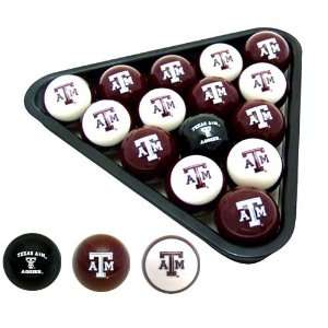 Licensed Texas AandM Aggies NCAA Billiard Ball Set