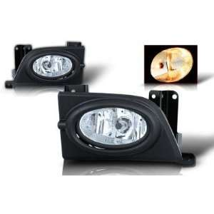 06 07 HONDA CIVIC 4DR FOG LIGHT KIT CLEAR LENSE (WIRING