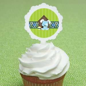 Boy Puppy Dog   12 Cupcake Picks & 24 Stickers Kitchen