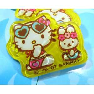 Tropical Beach Hello Kitty and Bunny Pony Tail Holder Toys & Games
