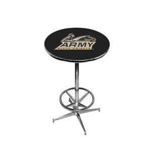 Army Black Knights Pub Table w/ Foot Ring Base NCAA