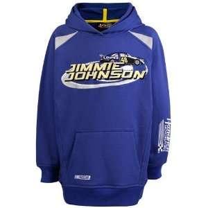 Jimmie Johnson Royal Blue Youth Sponsor Hoody Sweatshirt