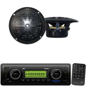 Pyle Marine Radio Receiver and Speaker Package   PLMR87WB