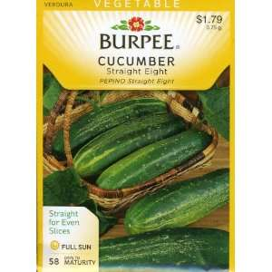 Burpee 56580 Cucumber Straight Eight Seed Packet Patio