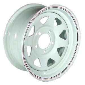 15 x 5 White Spoke Trailer Wheel (5 4.5 Bolt Circle