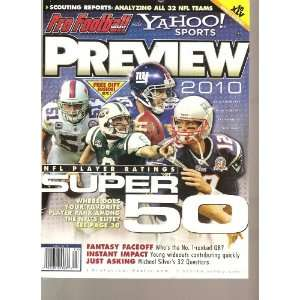 Pro Football Weekly and Yahoo Sports Preview 2010 (Nfl