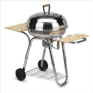 Arctic Stainless Steel Kettle Grill With Side Shelves