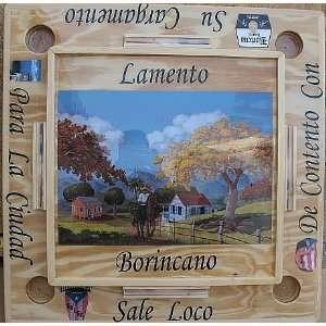 PUERTO RICO HANDMADE DOMINO TABLE LAMENTO BORINCANO