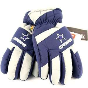 Thinsulate Navy Blue Lightning Embroidered Fleece Gloves Size S/M