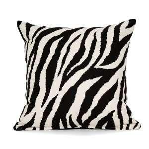 18 X 18 Cream & Black Zebra Throw Pillow Cover