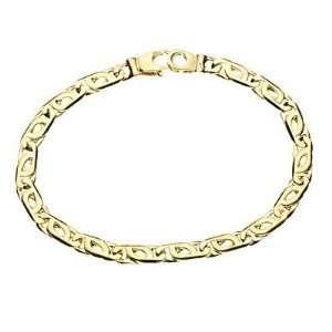 Tiger Eye Link Mens Bracelet Width is 5.3mm. Length is 8.25 Jewelry