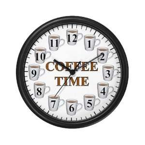 Coffee Time Humor Wall Clock by