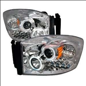 Dodge Ram 2006 2007 2008 CCFL LED Halo Projector Headlights   Chrome