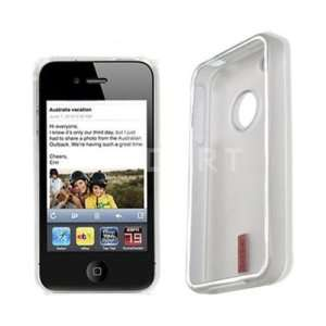 White TPU Shell Silicone Gel Skin Case Cover for Iphone 4