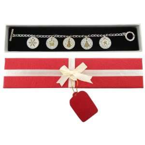 Tokens of Christmas Charm Bracelet Gift Boxed Jewelry