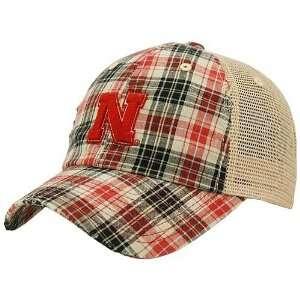 Top of the World Nebraska Cornhuskers Plaid Academic Adjustable Hat