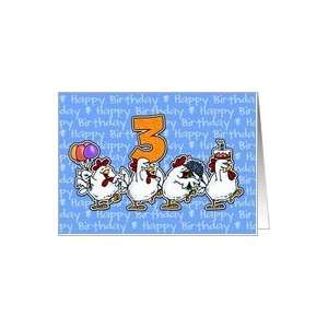 Chicken Birthday Parade   Three Years Old Card: Toys & Games